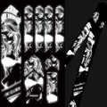 Enlee Mtb Stickers 3D Bescherm Frame Reflecterende Stickers Krasbestendig Slijtvaste Herhaal Plakken Fiets Paster Guard Cover