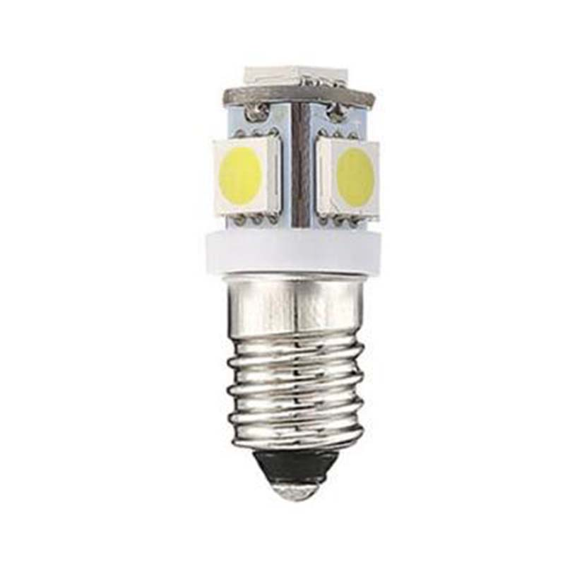 E10 DC 3V LED Light Bulbs 5SMD 5050 Replacement Interior Lantern Flashlight Torches Bulb Lamp