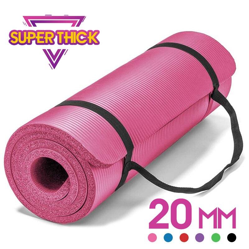 20mm Yoga Mat Extra Thick 1830*610mm NRB Non-slip Pillow Mat For Men Women Fitness Tasteless Gym Exercise Pads Pilates Yoga Mats