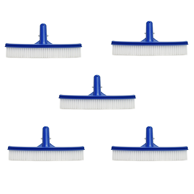JEYL 5Pcs Swimming Pool Cleaning Brush10 Inch Plastic Brushes for Pool Wall and Floor Swimming Pool Accessories