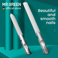 MR.GREEN Double Sided Nail Files Stainless Steel Manicure Pedicure Grooming For Professional Finger Toe Nail Care Tools