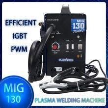 MIG 130 Gas meno saldatrice MIG saldatore Flux Core Wire saldatrice ad alimentazione automatica 110V/220V accessori gratuiti