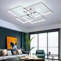 Квадратная рамка  современная светодиодная Люстра для гостиной  спальни  кабинета  позолоченные/хромированные 110V220V светодиодные люстры  по...