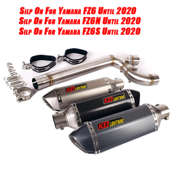 for Yamaha FZ6N FZ6S FZ6 Motorcycle Replace Original System 1x Middle Link Pipe Connect 2x Exhaust Muffler Tube Left Right Side