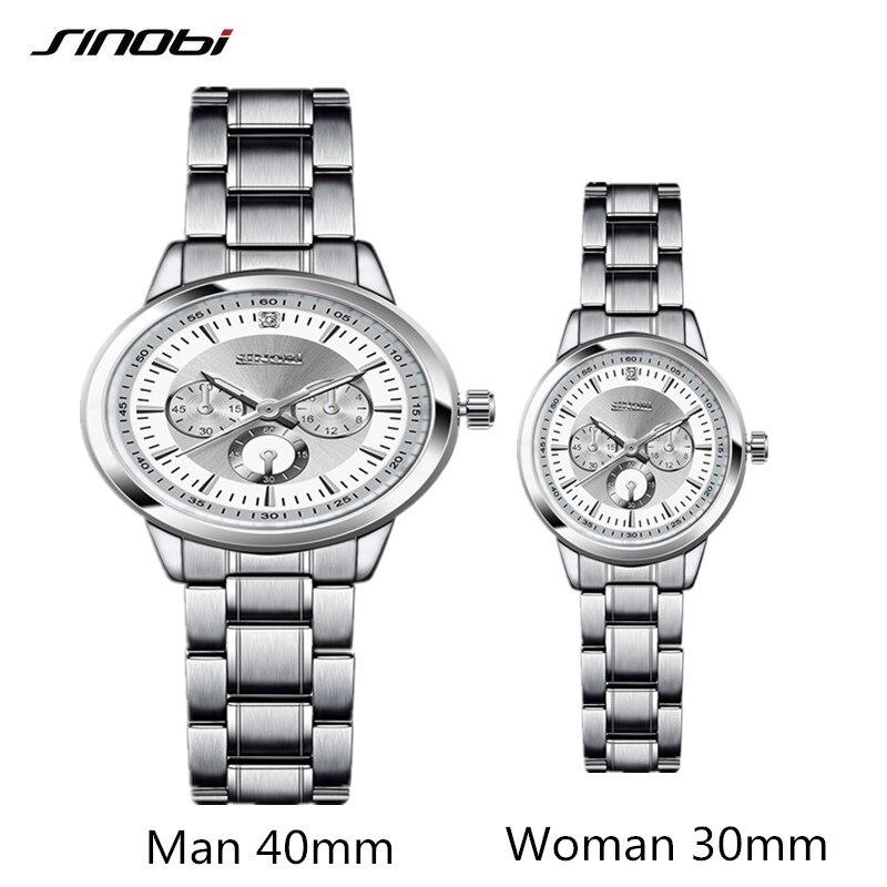 Couple Watch Sinobi Women Watches Top Brand Luxury Quartz Watch Women Clock Ladies Dress Wristwatch Fashion Casual Lovers Watch
