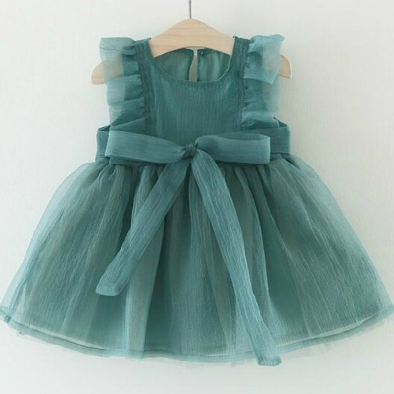 Bebê meninas vestido 0-3y crianças bebê fantasia vestido de malha de aniversário infantil sem mangas vestido de festa de bebê vestido de verão vestido de aniversário da menina