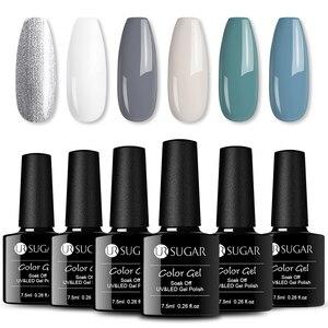 UR SUGAR 6/8 шт./лот наборы гелей для ногтей замачиваемый долговечный УФ светодиодный Гель-лак Блестящий цветной Гель-лак для ногтей