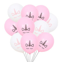 Unicorn Balon Pink Lateks 25G Unicorn Dekorasi Pesta Dekorasi Pesta Ulang Tahun Anak-anak Favor Baby Shower Emas Confetti Balon(China)