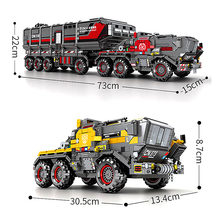 Technic city Carrier vehicle Truck The Wandering Earth car astronaut Building Blocks Sets brick compatible for