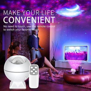 Проектор звездный с Bluetooth и управлением музыкой, Лампа для проектора в виде неба, Луны, галактики, океана, ночник для спальни, детский подарок