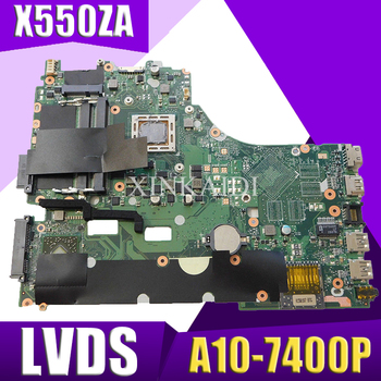 XinKaidi X550ZA placa base de Computadora Portátil para ASUS X550ZA X550ZE X550Z X550 K550Z X555Z VM590Z prueba placa base original de A10-7400P LVDS