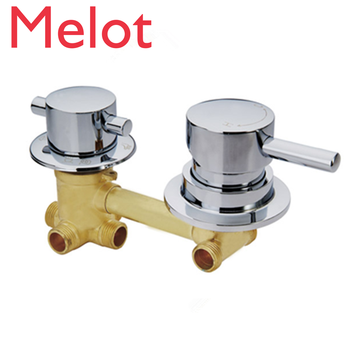 Shower Room 2/3/4/5 Output Hole Mixer Faucet Valve 10/12.5/14.5cm Connecting Shower Room Mixing Switch Valve Set