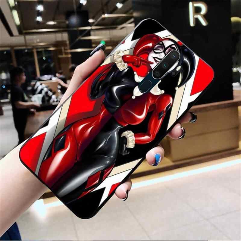 Penghuwan Chú Hề Cô Gái Harley Quinn Điện Thoại Ốp Lưng Oppo A5 A9 2020 Reno2 Z Renoace 3pro Realme5Pro
