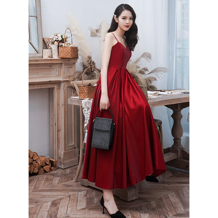 Gengli Dress The Bride In The Autumn Of 2020 A Long Red Wedding Dress To Wear At Ordinary Times, Dust Modern Show Thin Woman