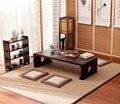 Японский винтажный деревянный стол для гостиной  кофе и чая в европейском стиле  для дома  прямоугольник  60*40 см  напольный стол татами