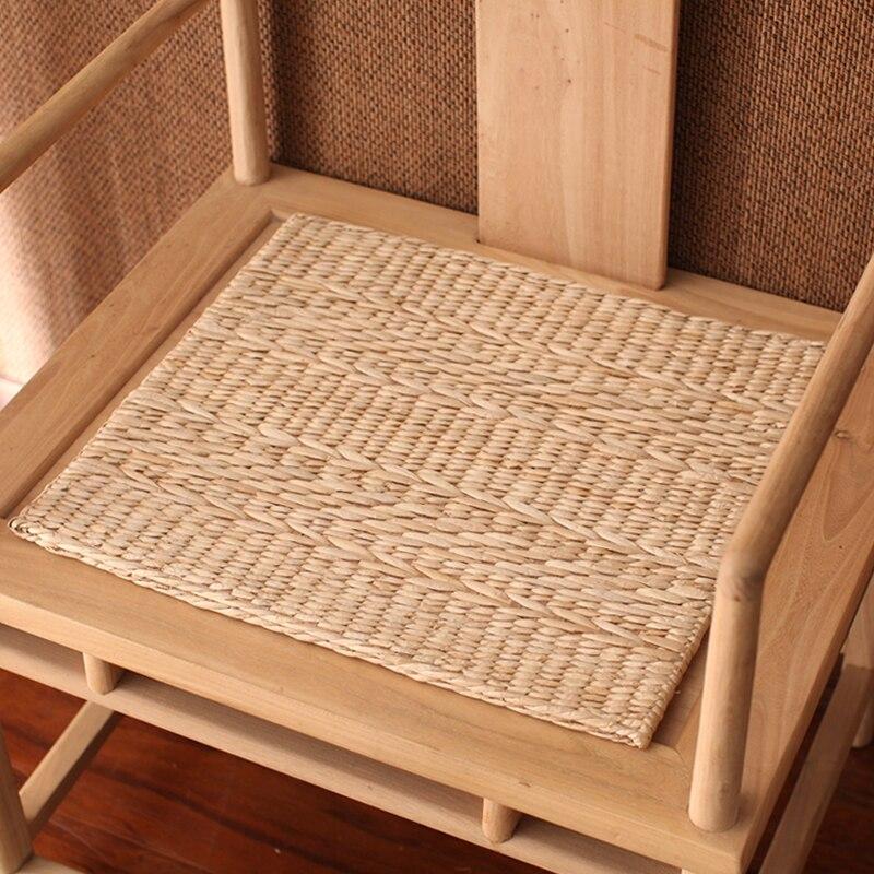 Vendas diretas novo tapete artesanal de palha tufo tapete tatami almofada almofada cadeira de escritório em casa cerimônia do chá com respirável sem cheiro