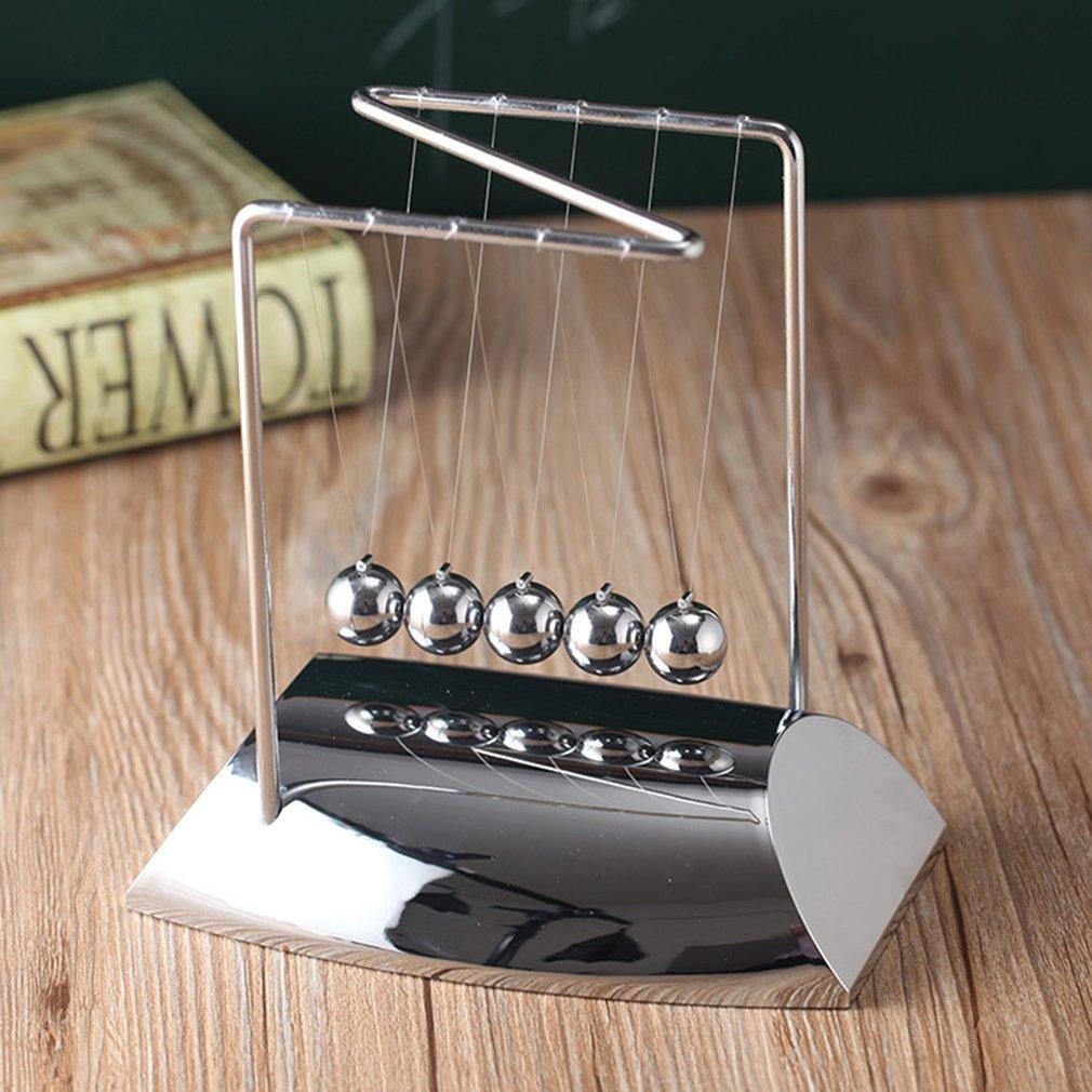 Newton Desk Table Decor Metal Cradle Pendulum Ball Physics Science Pendulum Steel Balance Ball home office