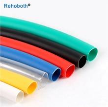 Термоусадочная трубка, термоусадочная трубка для проводов 2:1, черная, белая, красная, желтая, синяя, зеленая, 5 м