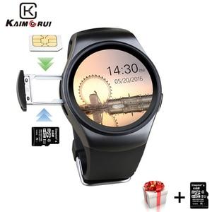 Image 1 - Смарт часы Kaimorui KW18, мужские Смарт часы с SIM картой, TF, Bluetooth, шагомер, фитнес трекер для измерения сердечного ритма для телефонов Android и IOS