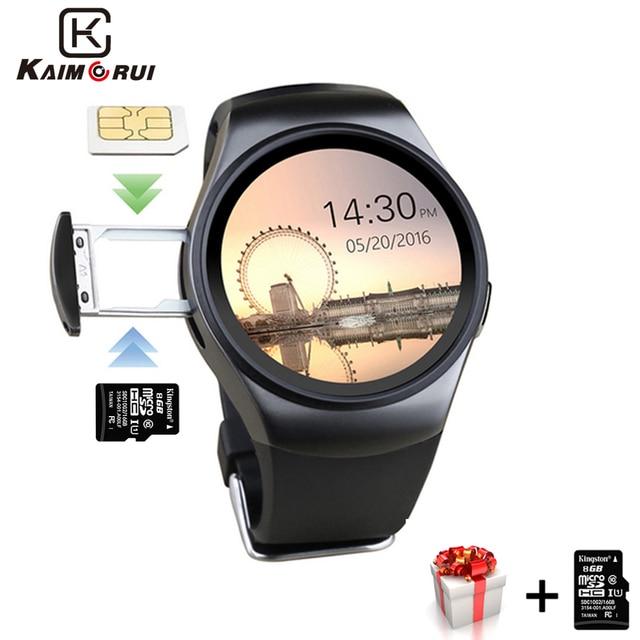 Смарт часы Kaimorui KW18, мужские Смарт часы с SIM картой, TF, Bluetooth, шагомер, фитнес трекер для измерения сердечного ритма для телефонов Android и IOS
