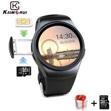 Kaimorui KW18 akıllı saat SIM kart İzle erkekler TF Bluetooth Smartwatch pasometre egzersiz kalp atışı takip cihazı Android IOS telefon için
