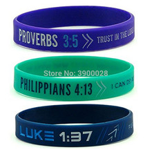 100pc Bible Verse Philippians luke Proverbs silicone wristband bracelet  for Men Women Christian Religious Jewelry Gifts lusoga riddles and proverbs