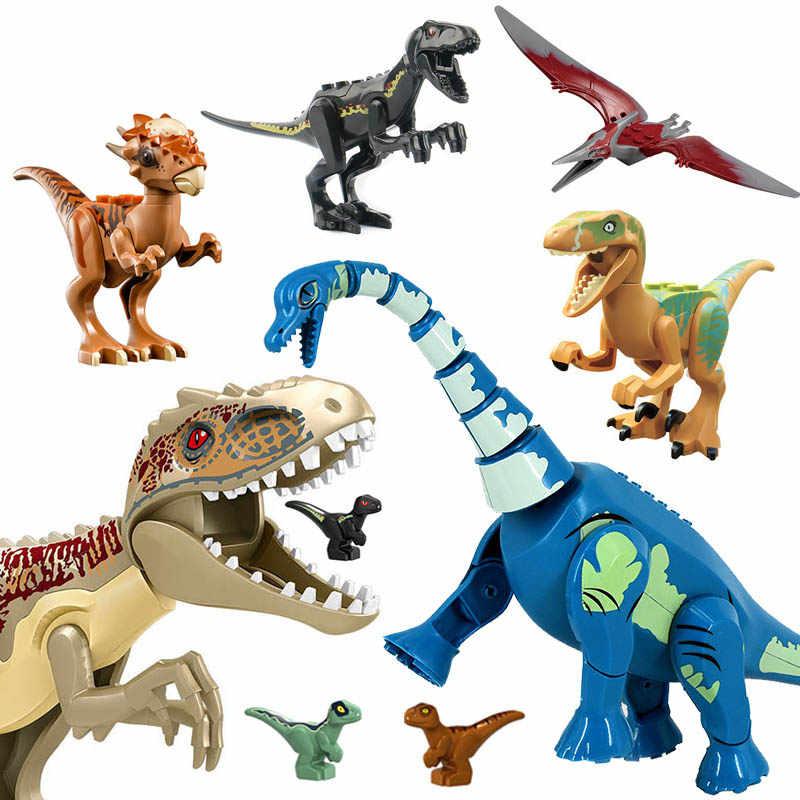 Jurassic Dinosaur Set Building Block Toy Figure Indoraptor Velociraptor