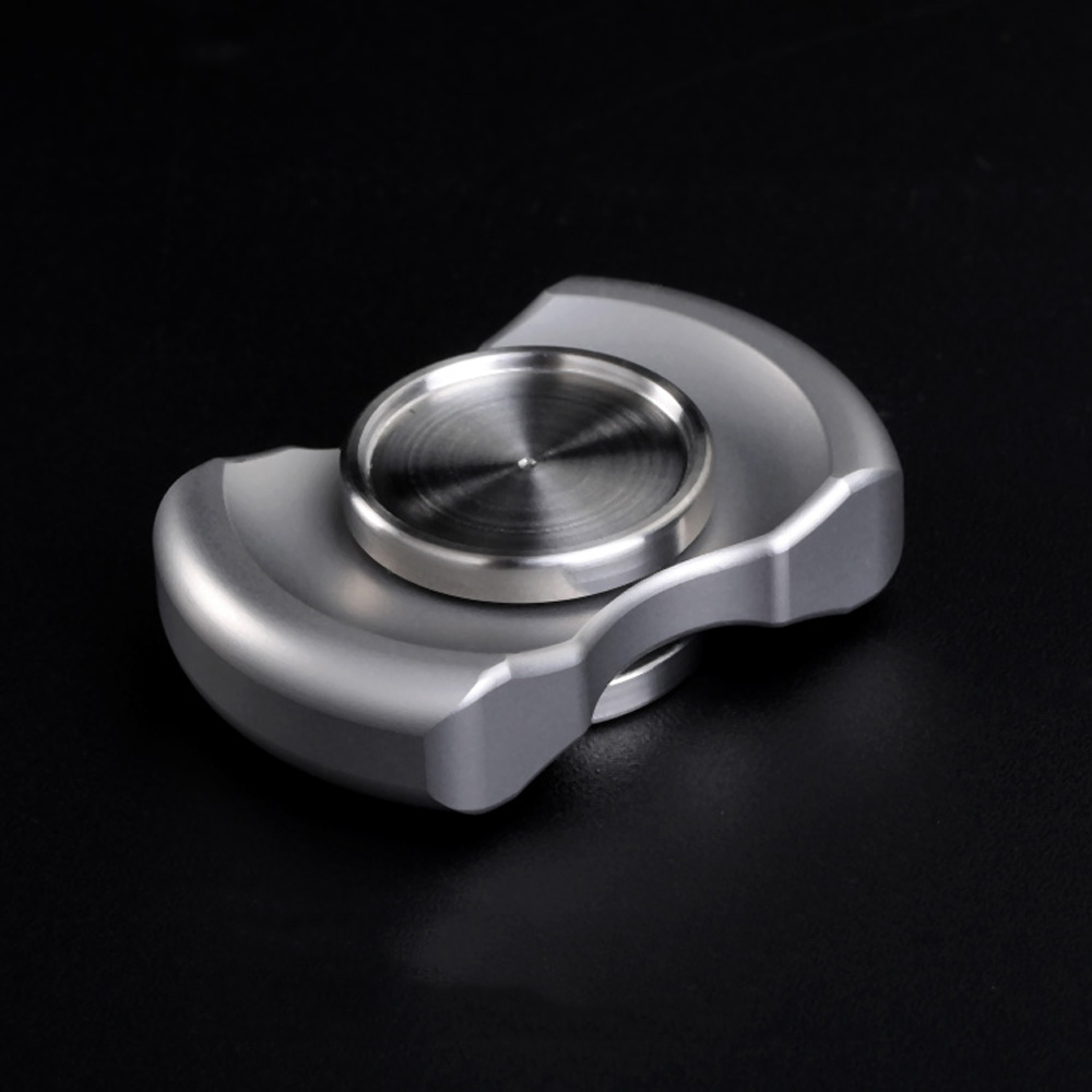 Mini Double Leaf Hand Spinner Stainless Steel Metal  Fingertip Gyro Spinner Finger Stress Tri-Spinner Anxiety Stress Toy