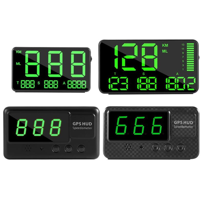 C80 C90 C60 C60S Digital GPS Speedometer Car HUD Head Up Display KM/H MPH Speed Display Over Speeding Alarm System Universal