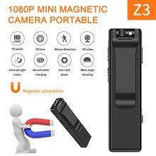Câmera magnética hd 1920*1080 portátil led indicador de vídeo câmera de segurança usb sem fio para interior ao ar livre escritório em casa