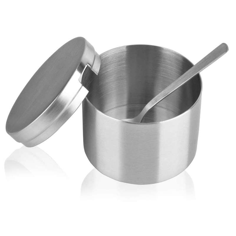Stainless Steel Sugar Bowl And Sugar Spoon  Multi Function Sugar Container Spice Container Salt Jar Condiment Bowls Sugar Jar Fo|Gravy Boats| |  - title=