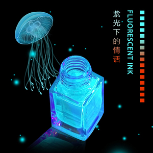 Image 1 - 18ml/בקבוק מגדלור Invisible דיו עבור עט נובע, שאינו פחמן פלורסנט דיו, גלוי רק תחת אור UV, מזרקה עט דיו