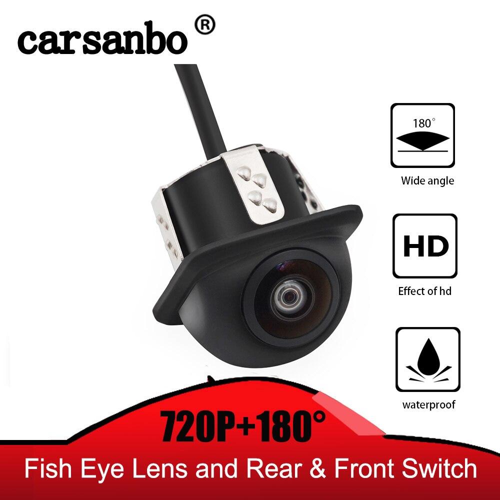 HD 1280*720P Night Vision Car Rear View Reverse Camera IP68 Waterproof 12V 180H Degree Auto Reversing Backup Camera