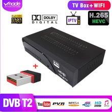 Vmade DVB-T2 H.265 with WIFI DVB T2 in Terrestrial TV receiver box SCART support AC3 Dolby Youtube TPTV set top boxes