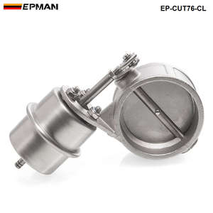 NEW vacuum Activated Exhaust Cutout 3'' 76MM Close Style Pressure: about 1 BAR For BMW E30 3-Series EP-CUT76-CL(China)