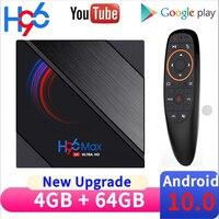 Nuevo H96 MAX H616 caja de TV Android 10 4GB de RAM 32GB 64GB ROM Android TV caja de 6k 2,4G 5,8G soporte WIFI YouTube Dispositivo de TV inteligente