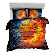 3Pcs 3D Basketball Bedding Set Twin/Full/Queen/King/ 172*218cm/200*229cm/228*228cm/259*229cm Duvet Cover Bedding Sets(China)