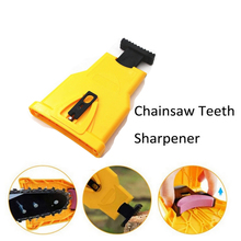 Chainsaw Teeth Sharpener Portable Sharpen Chain Saw Bar-Mount Fast Grinding Sharpening Chainsaw Chain Woodworking Tools