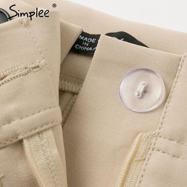 Simplee Solid casual harem pants female trousers High waist office ladies blazer suit pants Loose Ankle-length women pants 2019 5