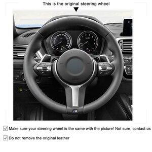 Image 5 - Housse de volant noire en cuir et daim véritable, pour BMW M Sport F30 F31 F34 F10 F11 F07 F45 F46 F22 F23 M235i M240i