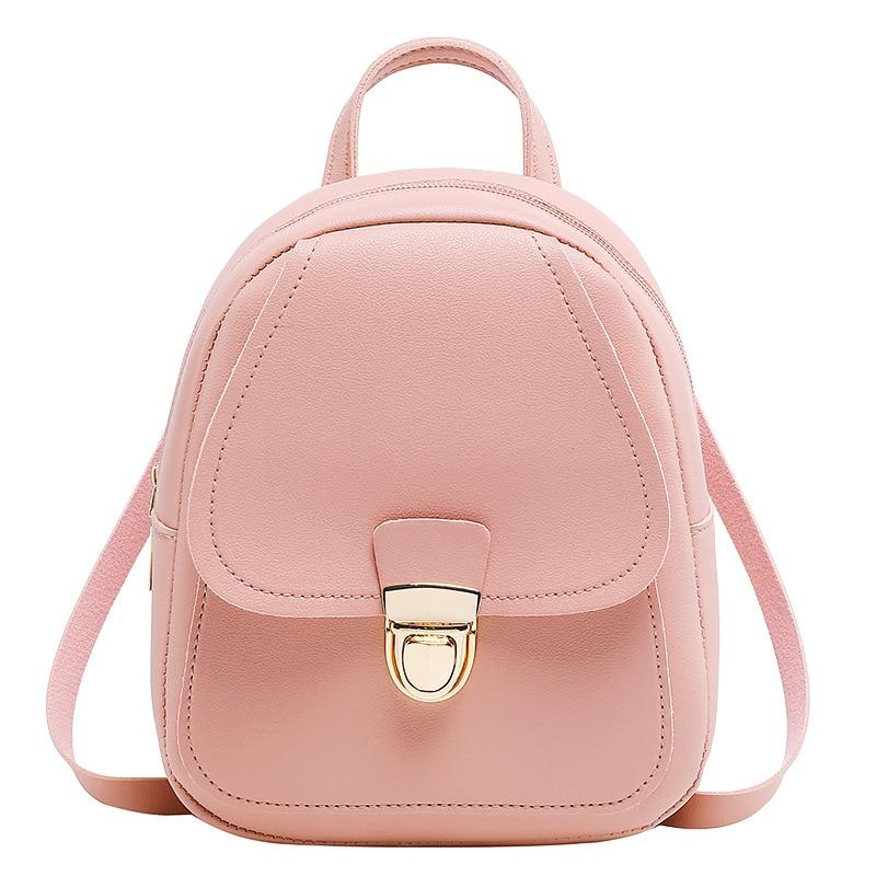 Women's Leather Backpack Fashion Mini Backpack School Bags For Teenage Girls Bagpack Cute Small Female Backpack Mini Mochila
