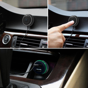 Image 5 - JaJaBor Bluetooth 4,0 Hands Free Car kit mit NFC Funktion + 3,5mm AUX Receiver Musik Aux Freisprecheinrichtung 2,1 EIN USB Auto Ladegerät