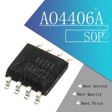 10 pces ao4406a ao4406 4406a 4406 sop novo chip de portátil original