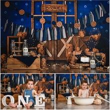 Mocsicka шоколадное печенье тематический фон для детей 1 день рождения торт Smash Фотофон реквизит для фотостудии