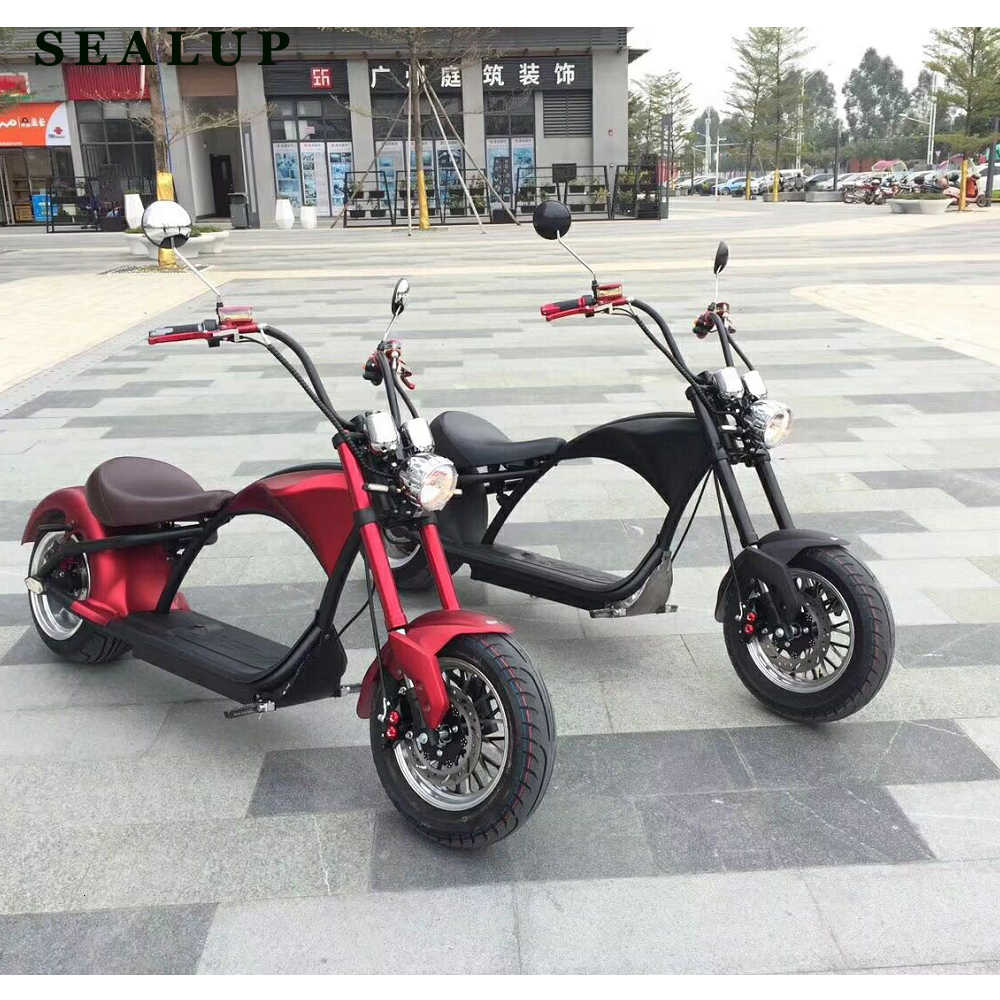 EUR Stock 2000w Adult Electric Motorcycle City Coco with 20ah Removable Battey with EEC COC Registered