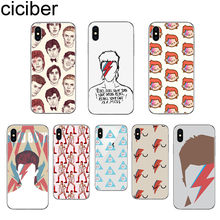 Ciciber David Bowie Voor Apple Iphone 11 Pro Max Telefoon Case Voor Iphone X Xr Xs Max 8 6 6S Plus 5 5S Se Soft Tpu Cover Fundas Capa(China)
