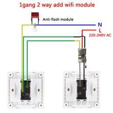 Ewelink módulo wifi sem fio, 2 vias, suporte rf433mhz sem fio neutro, funciona com alexa e google home 220-240v