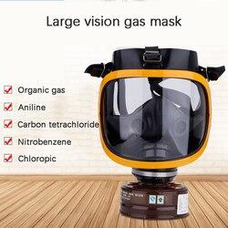 Groot Gezichtsveld Filter Gasmasker Chemical Gas Dust Spray Paint Beschermende Actieve Kool Filter Doos Volgelaatsmasker