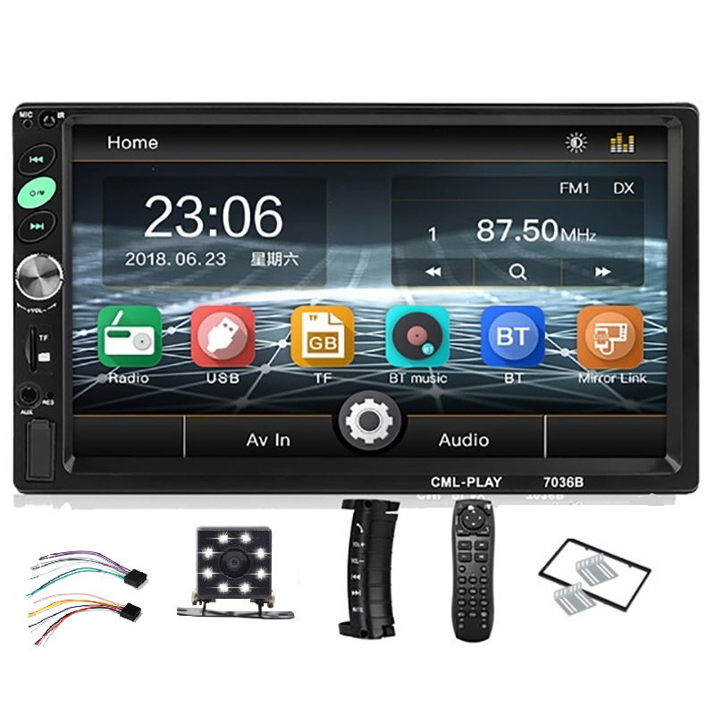 2Din Car Radio 7 Inch Press Android Player With Bluetooth Subwoofer MP5 Player Radio Bluetooth Tape Recorder With Rear View Came