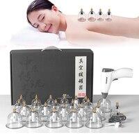 Elektrische Saugnapf Anti Cellulite 24 Gläser Vakuum massager Chinesischen Medizin Schröpfen Physiotherapie Set Guasha Für massage Körper